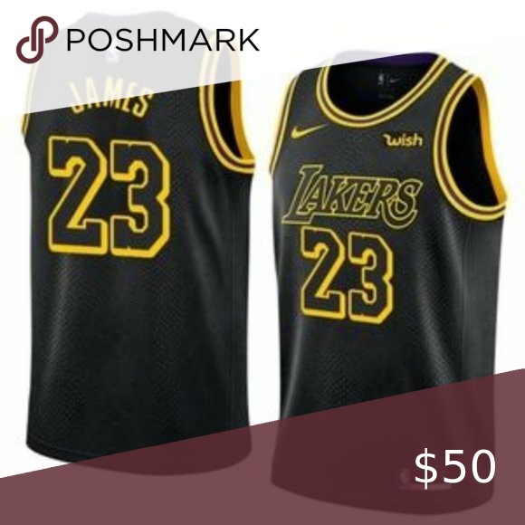Los Angeles Lakers Lebron James Black City Jersey 1 Brand New With Tags 2 All Items Size Available In Stock 3 All Items Fi In 2020 Nba Shirts Lebron James La Lakers