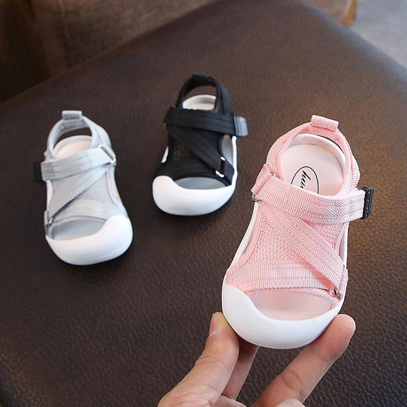 Summer Fashion Girl/'s Princess Sandals Soft Non-slip Kids Flat Beach Shoes 7-16Y