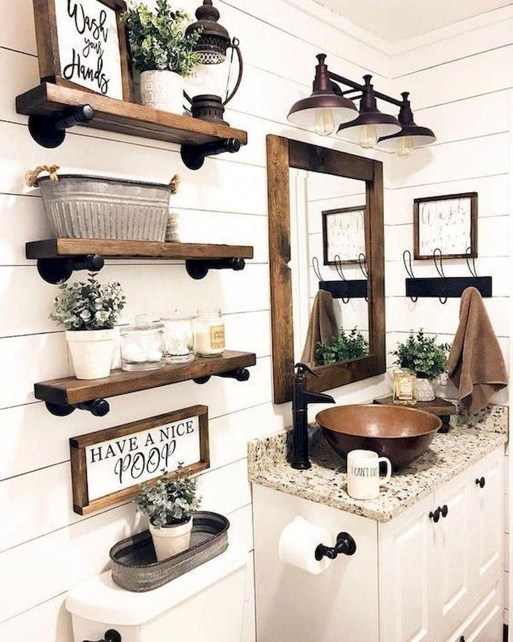 Awesome 30 Unusual Bathroom Decorating Ideas Country Bathroom Decor Bathroom Farmhouse Style Farmhouse Bathroom Decor