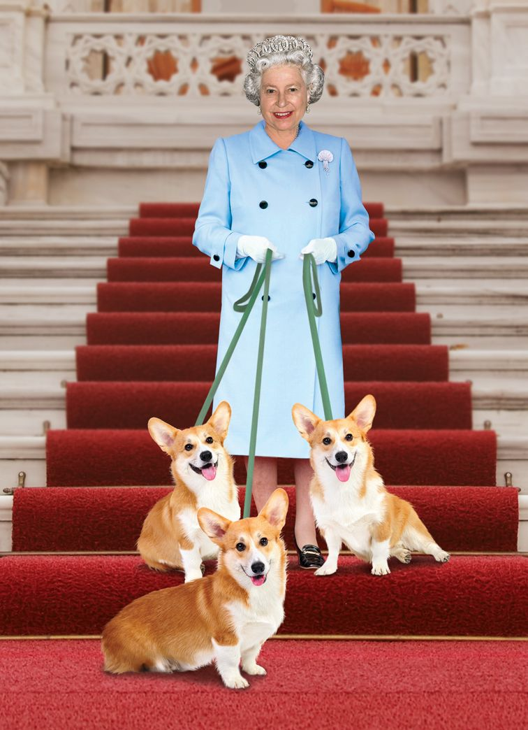 Names of queens corgis Spirit featured in Greetings u Gifts