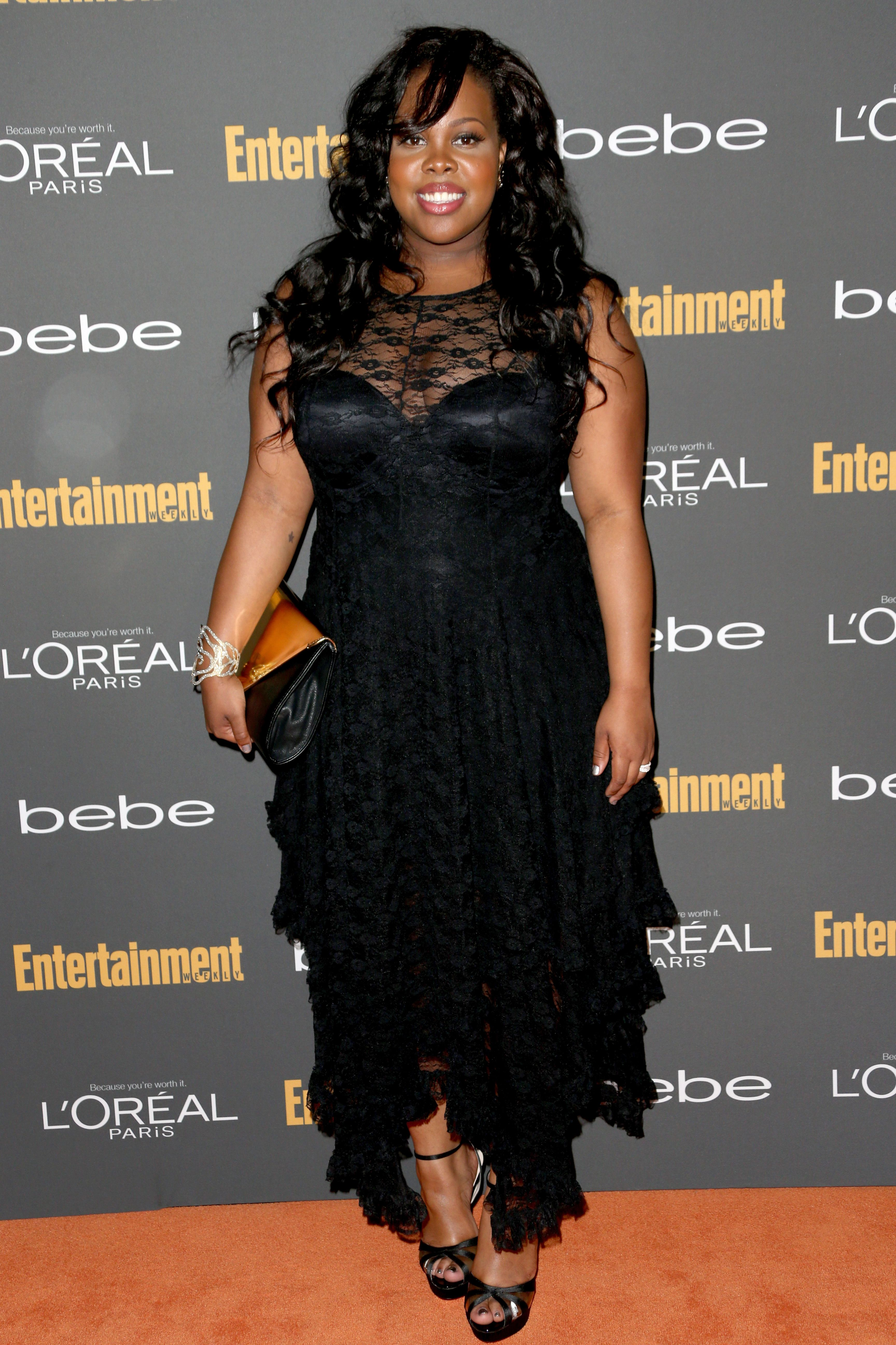 Amber riley entertainment weeklyus preemmy party west hollywood