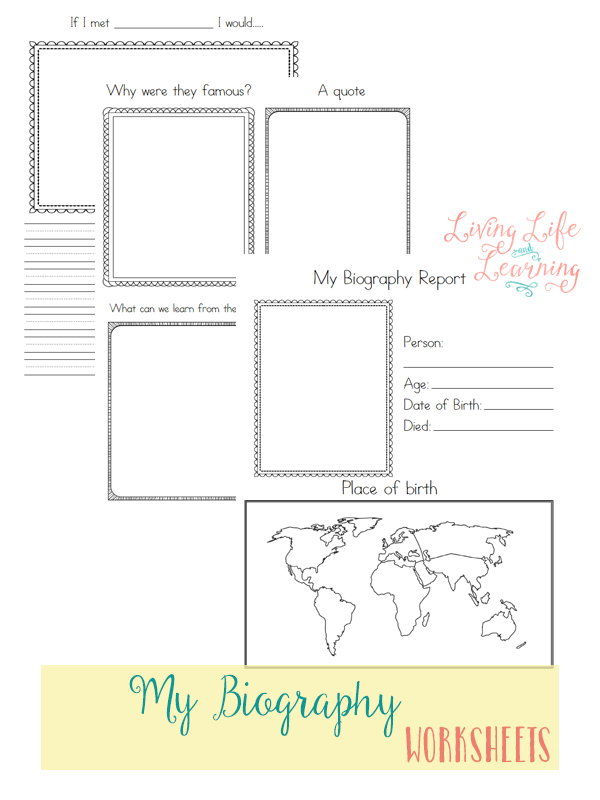 Free Biography Research Worksheets | Student studying, Worksheets ...