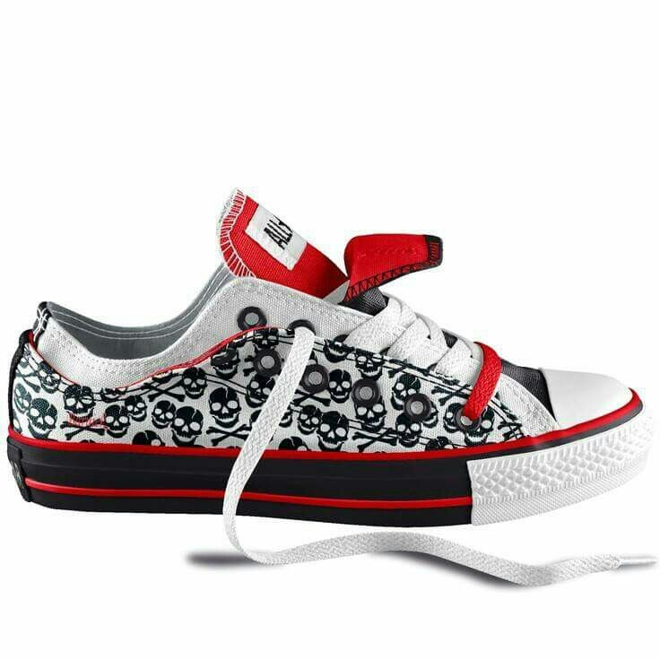 6133f39b5815 House of Skulls and Badassery Design Your Own Converse