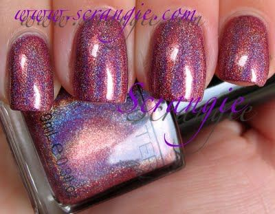 glitter gal  copper holo  nail polish holographic