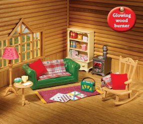 Sylvanian Families Log Cabin Living Room Furniture Set Paint For Colors Buy Cosy Online Calico Critters