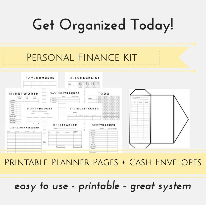 Dave Ramsey System PRINTABLE Planner Pages Budget Envelopes