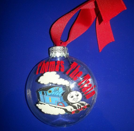 Personalized Thomas The Train Christmas Ornament By Jayscreations3