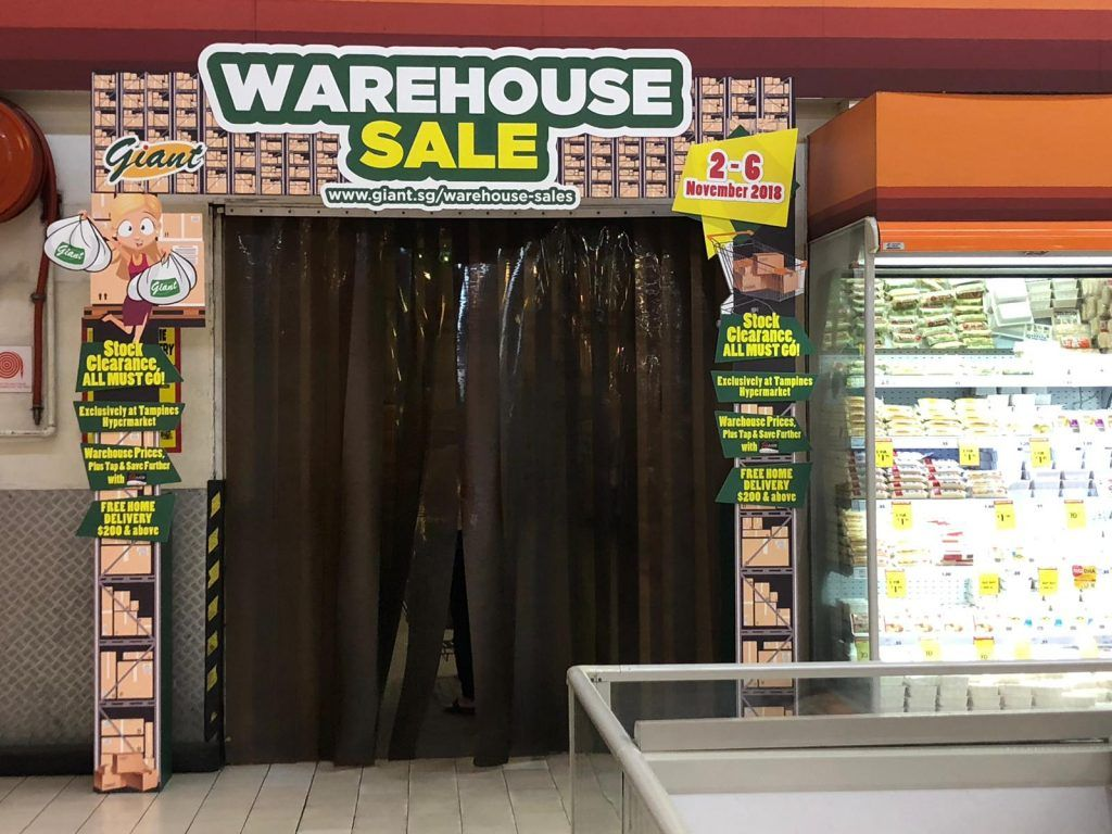 Giant Singapore Crazy Warehouse Clearance Sale Promotion 2 6 Nov 2018 Sale Promotion Clearance Sale Warehouse