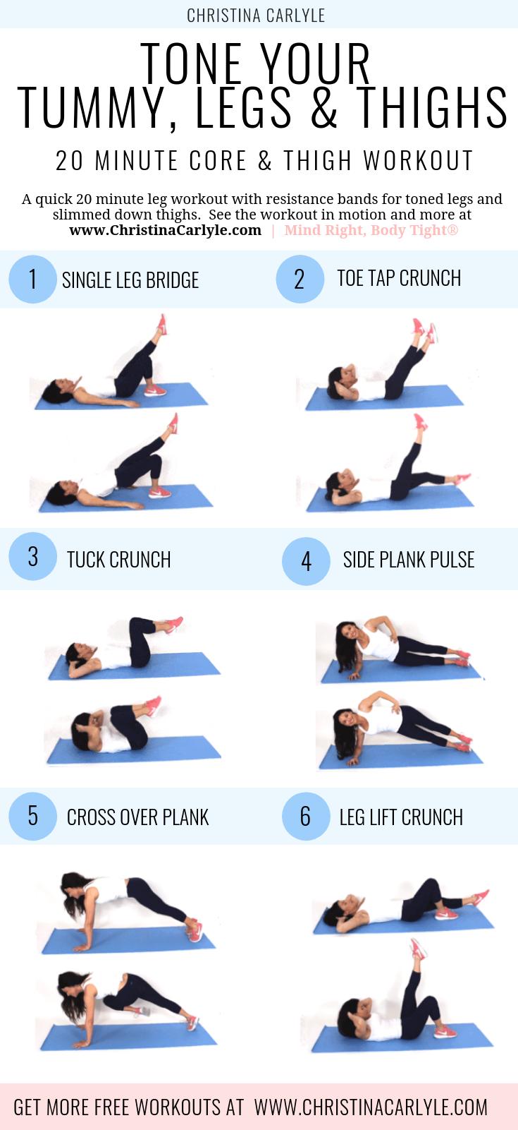 Bein- und Bauchmuskeltraining, um Beine und Kern in 15 Minuten zu straffen   - fitness -   #Bauchmus...