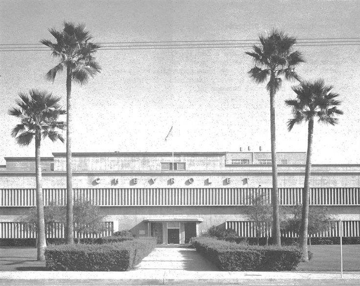 Gm Van Nuys Plant 1950s Van Nuys California San Fernando Valley