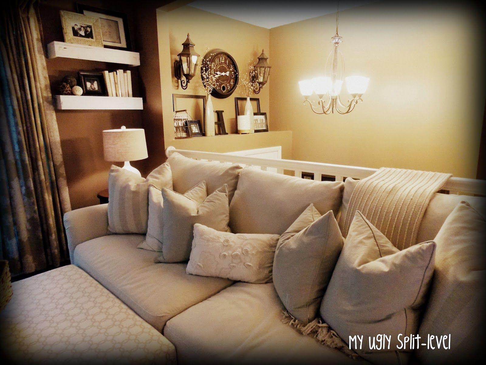 My Ugly Split Level DIY Living Room Shelves