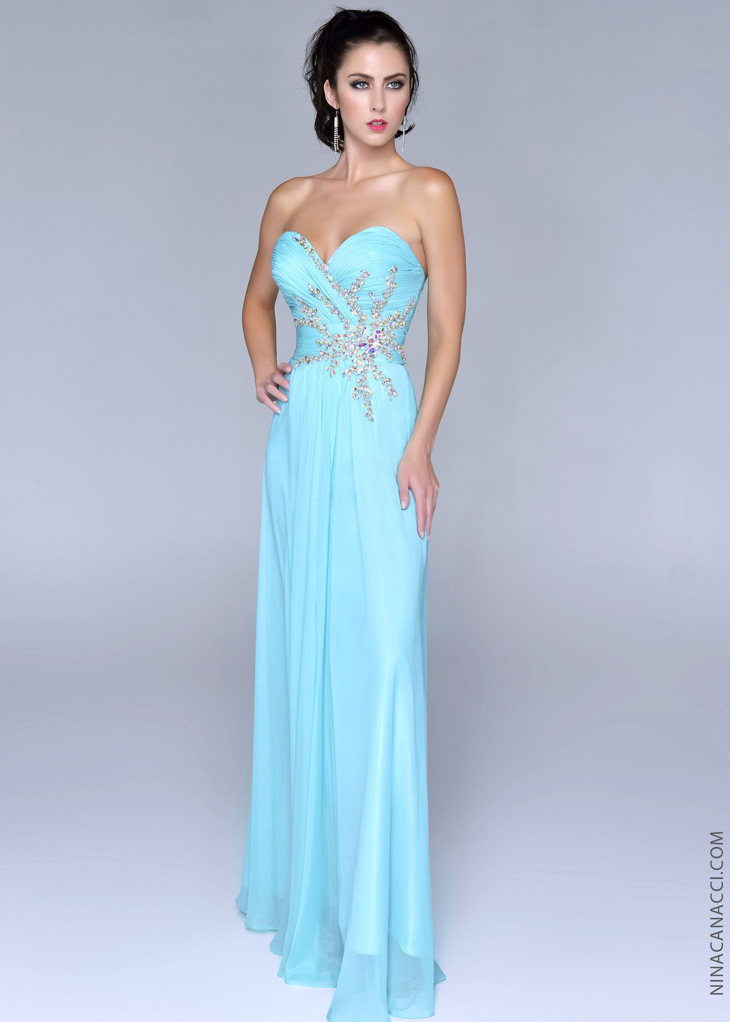 Nina Canacci 2023 Strapless Beaded Gown 2014 Prom Collection