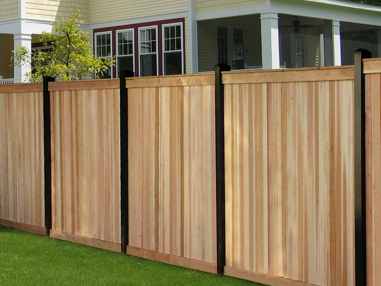 Black Painted Wood Fencing Google Search Wood Fence Design