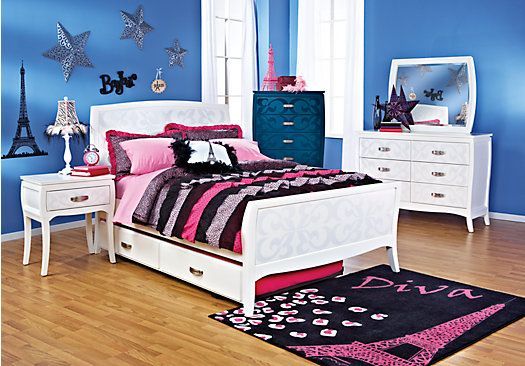 Shop For A Belle Noir White 5 Pc Twin Bedroom At Rooms To Go Kids. Find  That Will Look Great In Your Home And Complement The Rest Of Your Furniture.