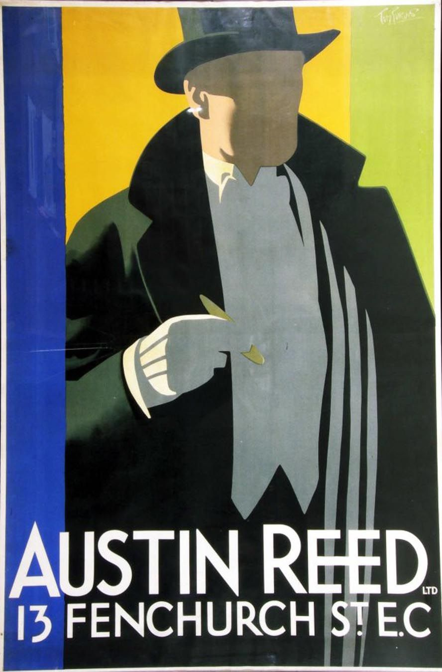 Tom Purvis Work For Austin Reed Art Deco Posters Art Deco Posters Prints Fashion Poster Design