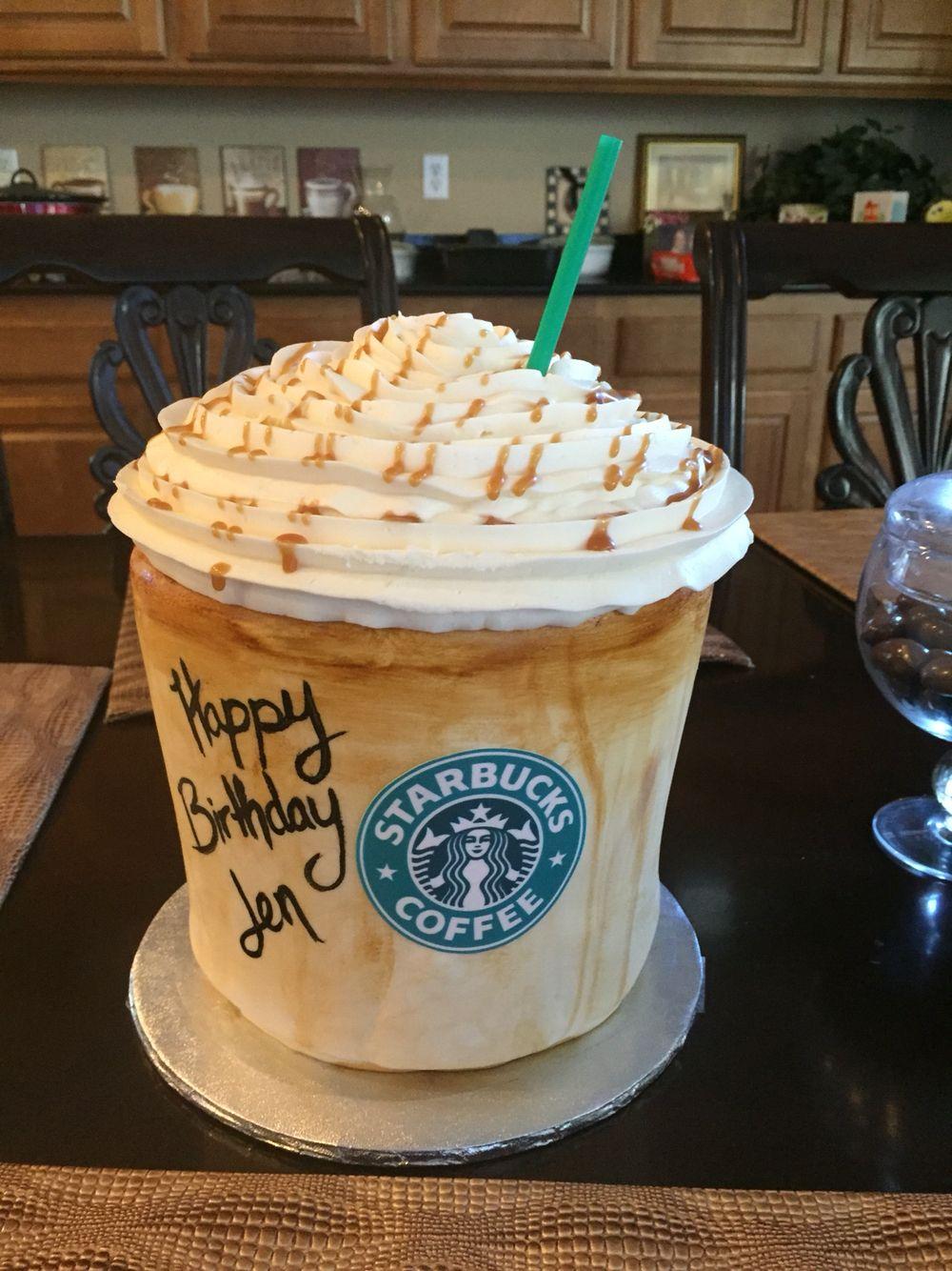 Caramel Macchiato Starbucks Starbucks Cake Birthday Cake Themed