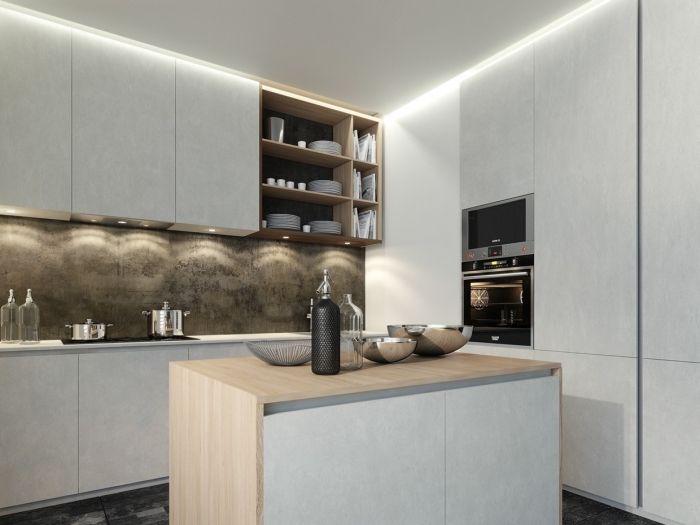 ▷ 1001 + variantes de la cuisine avec îlot central moderne et