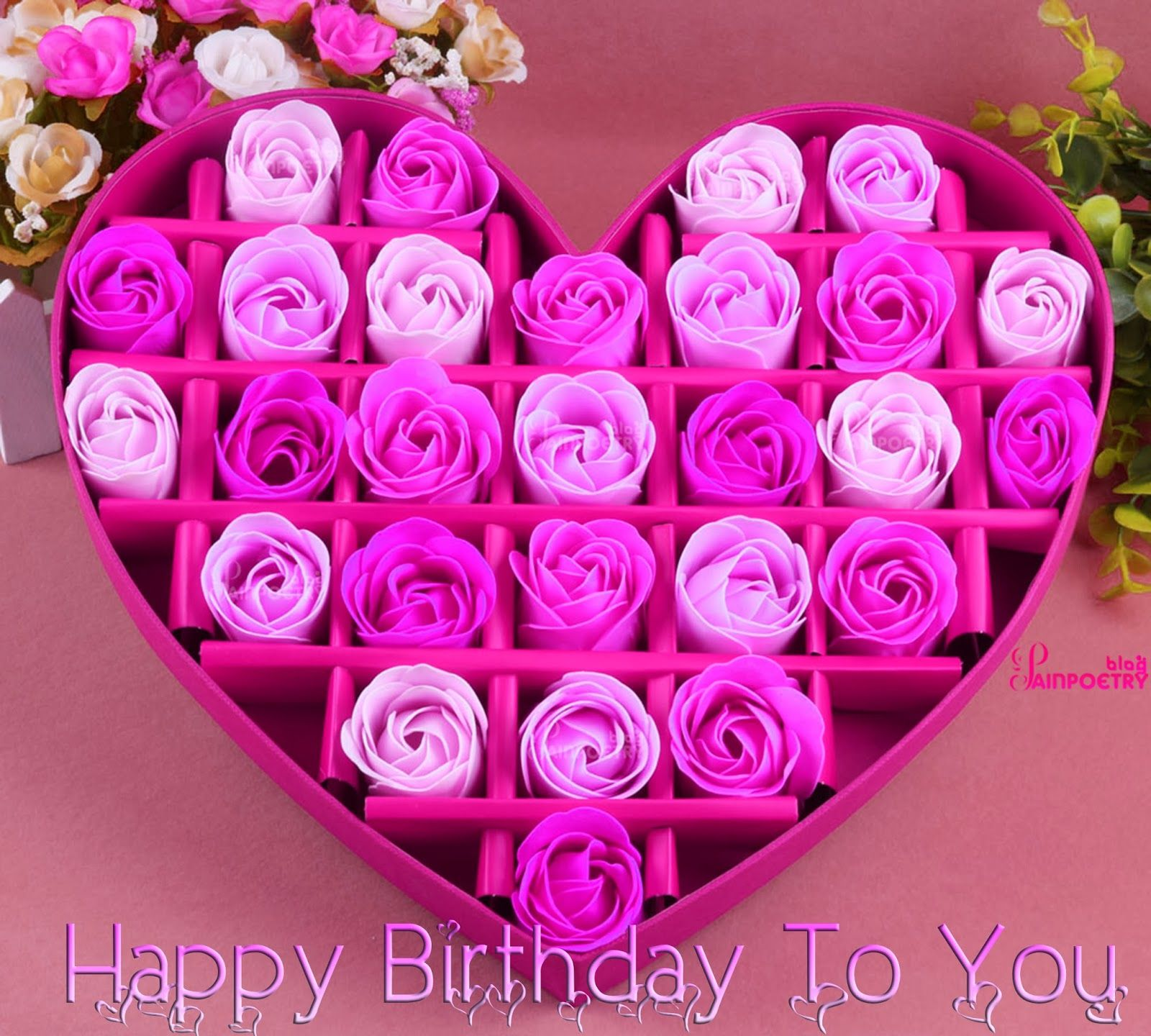 Happy Birthday Special Gift 27 Flower Fit In A Heart Image Hd Wide