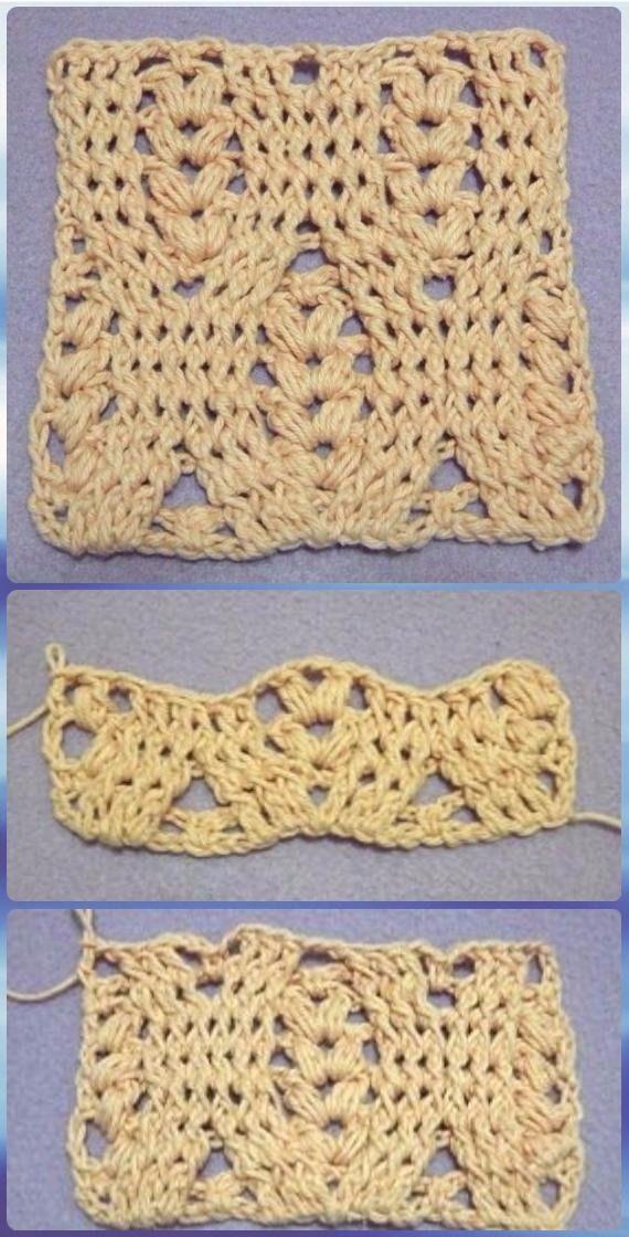 Crochet Wheat Stitch Free Pattern & Video Instruction | Free pattern ...