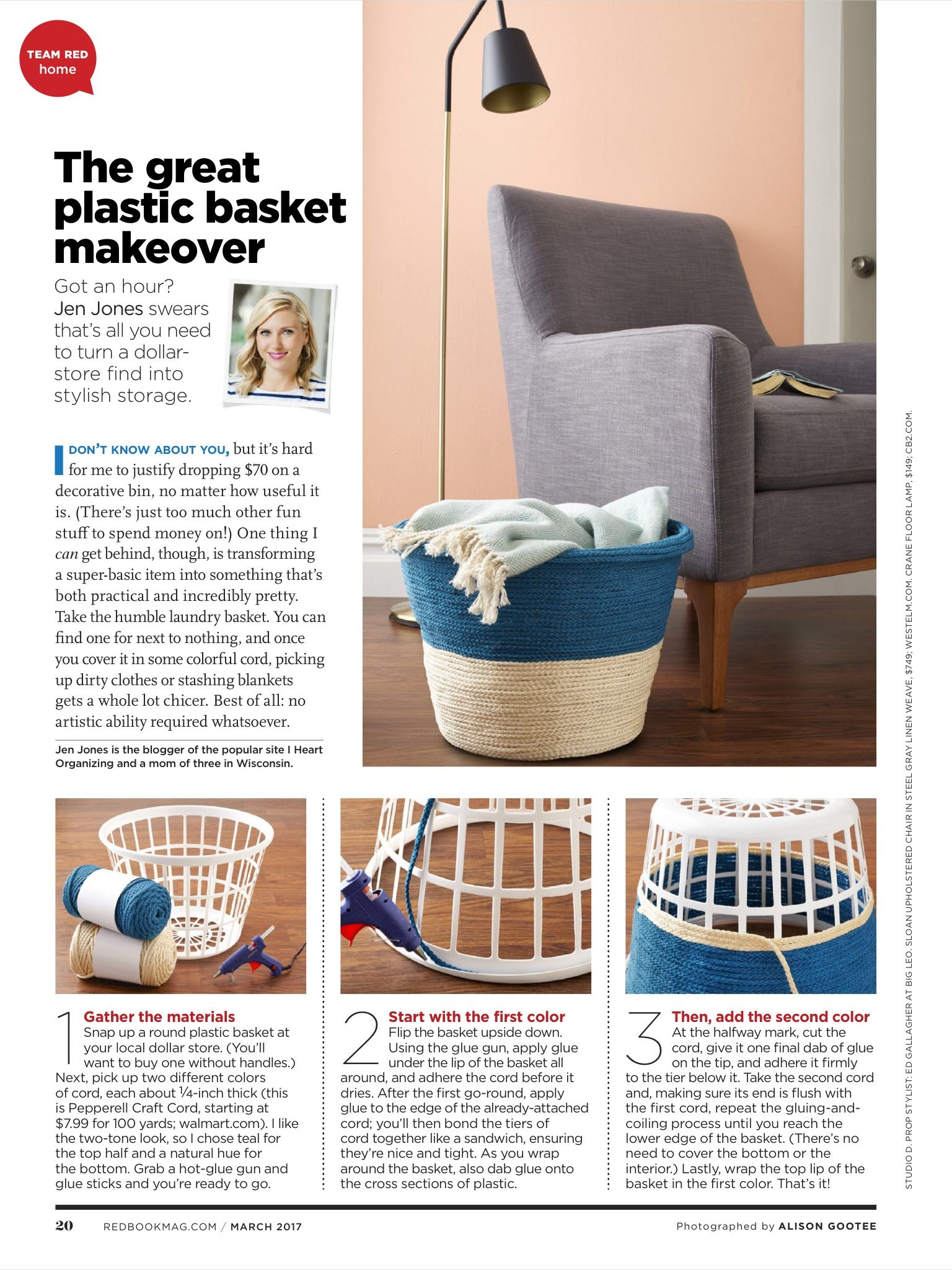 Plastic laundry basket makeover DIY in 2018