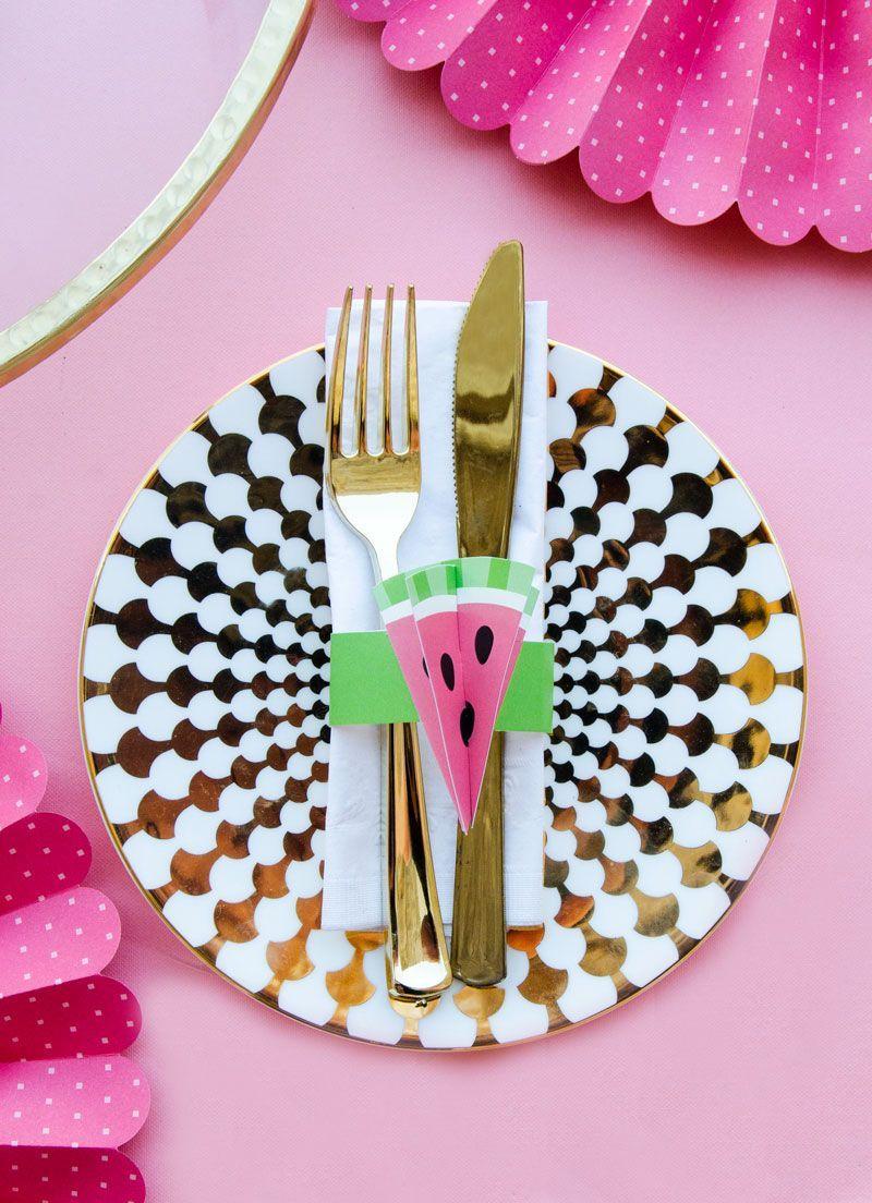 Diy Watermelon Paper Napkin Holder Watermelon Party Pinterest