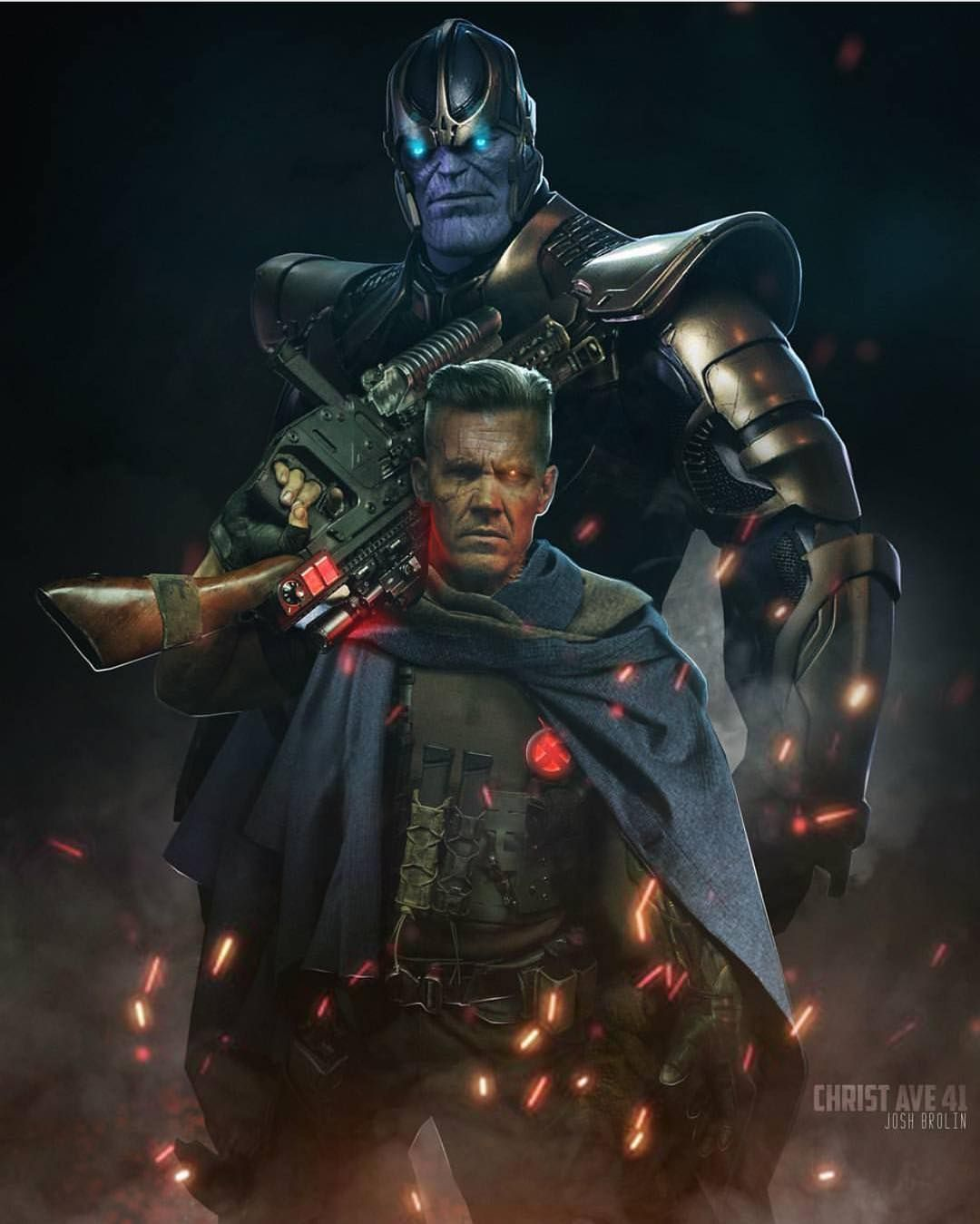 """Thanos / Cable!! Art By @christ_ave41 #Cable #Thanos"