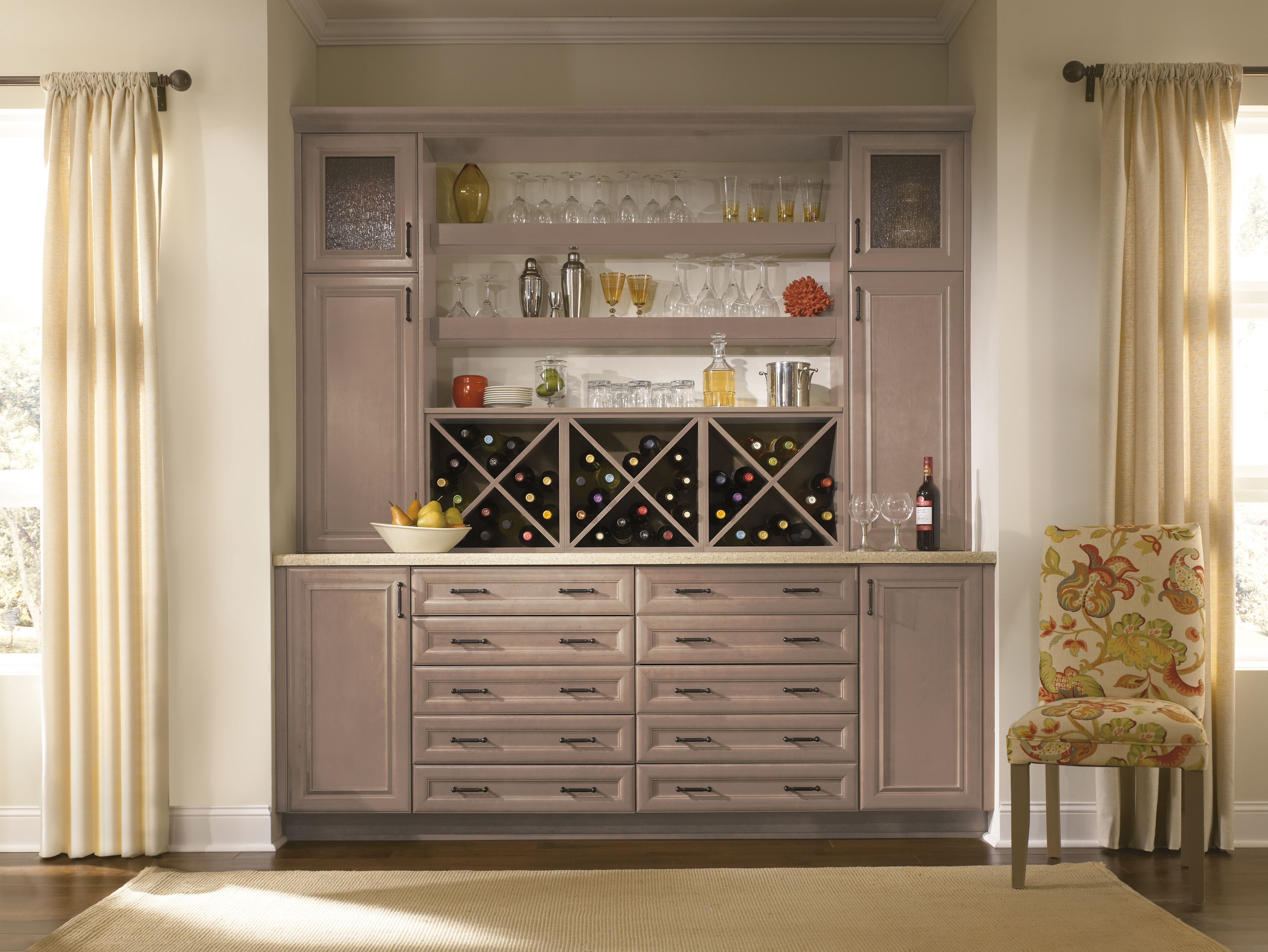 Lots Of Storage For Glasses, Bottles, And Bar Accessories!