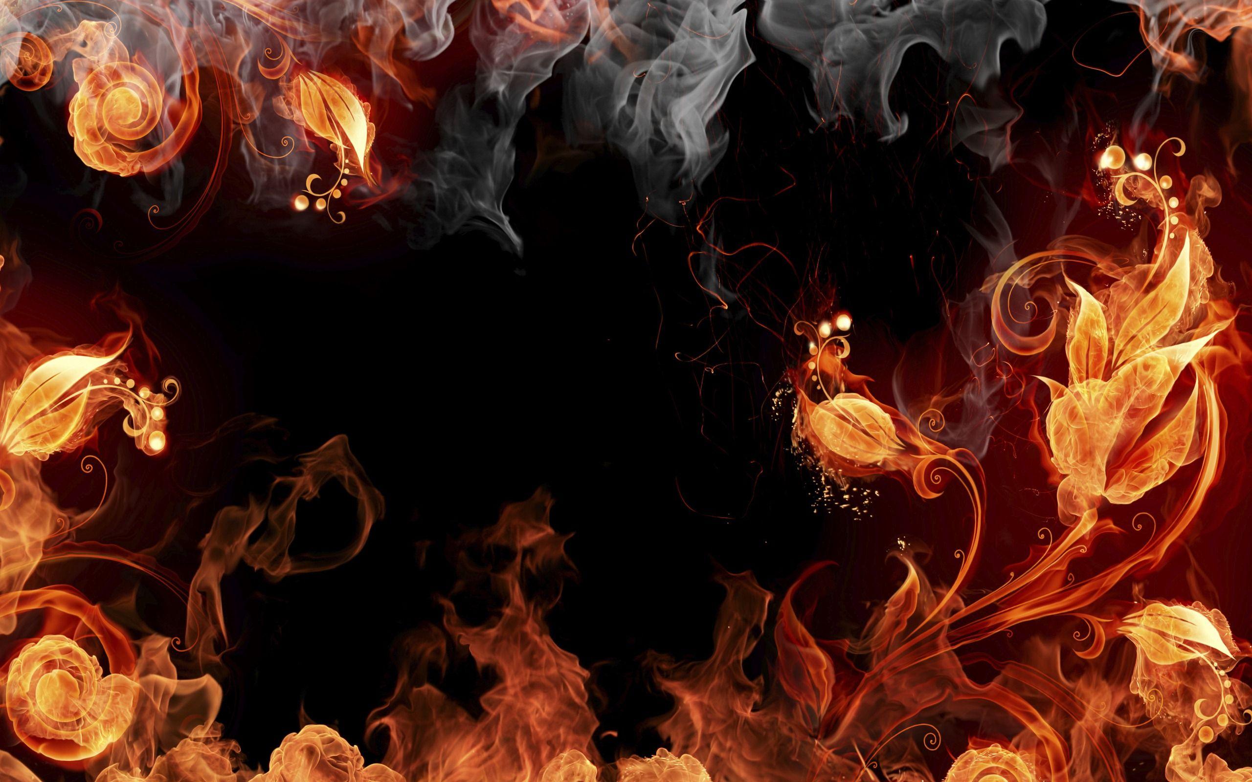 Cool Blazing Fires Smoke Smoke Wallpaper Fire Flower Fire Art