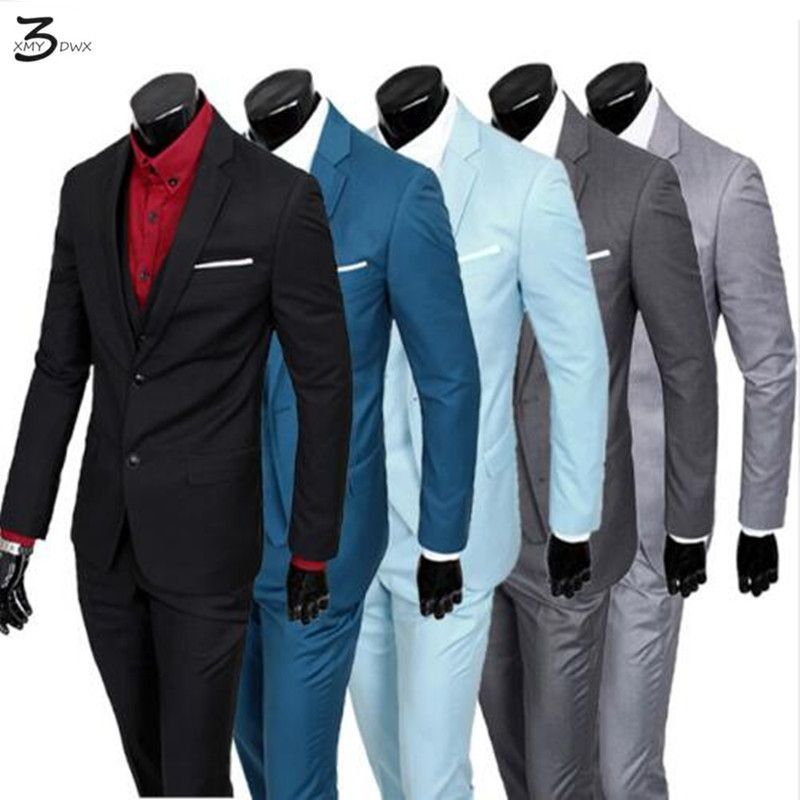Jacket+Pants+Vest)2016 Men Suits Brand business Blazers Jacket ...