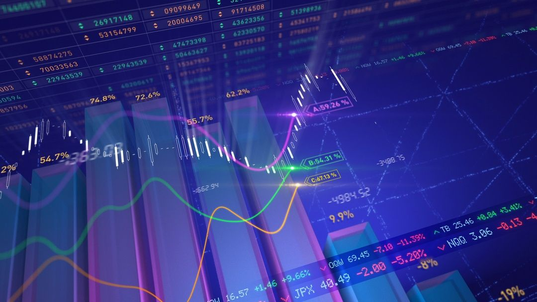 Abstract business stock market data animation with generic