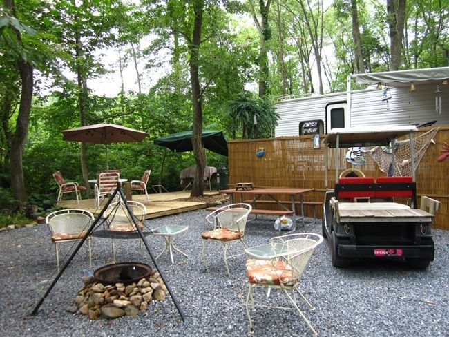 RV Site Ideas (With images)   Campsite decorating, Camping ...