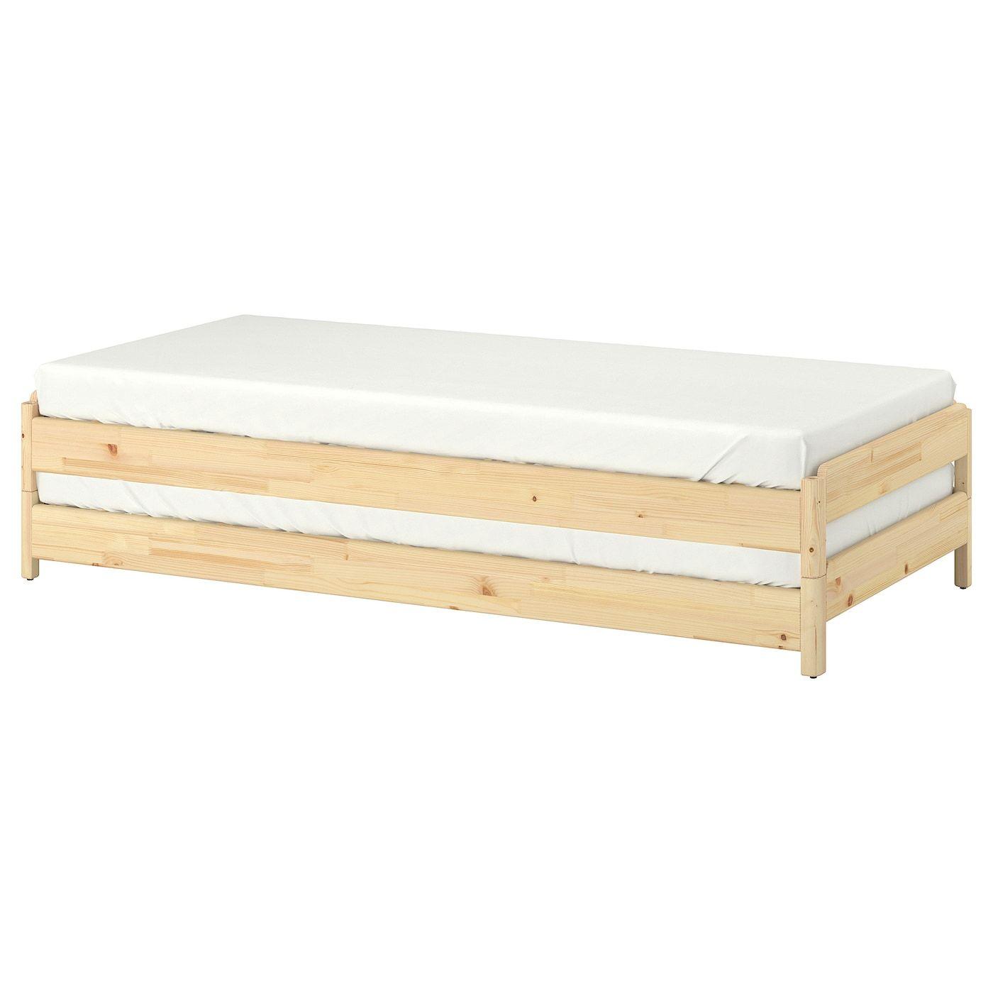 Utaker Stackable Bed Pine Twin Ikea Ikea Bed Bed Slats