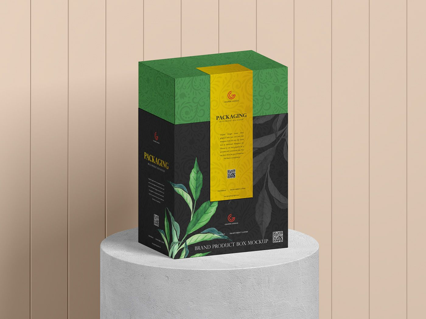 Download Free Product Packaging Box Mockup on Behance in 2020 | Box ...