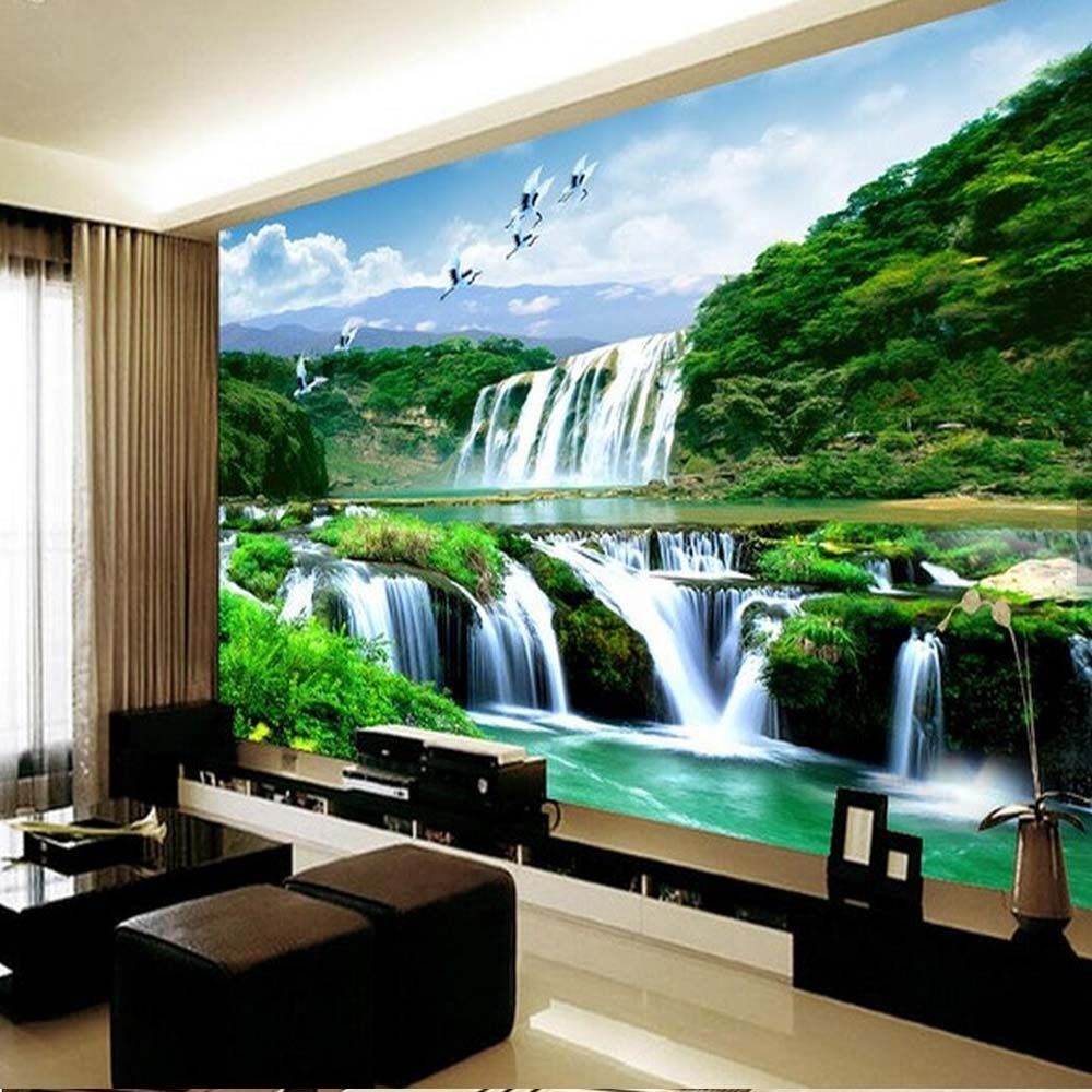 Cheap Wallpaper Mural Buy Quality 3d Waterfall Directly