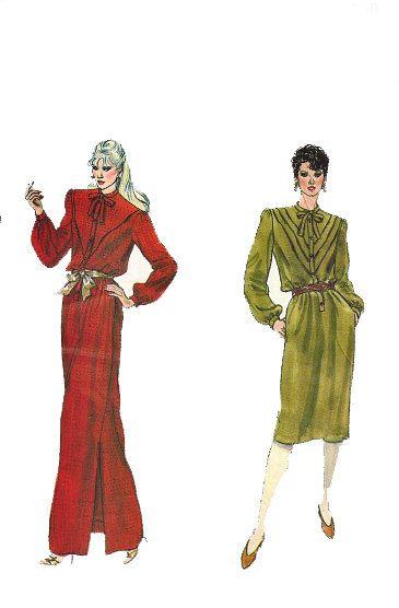 80s dress pattern, Long dress pattern, Mid Knee dress, maxi dress ...