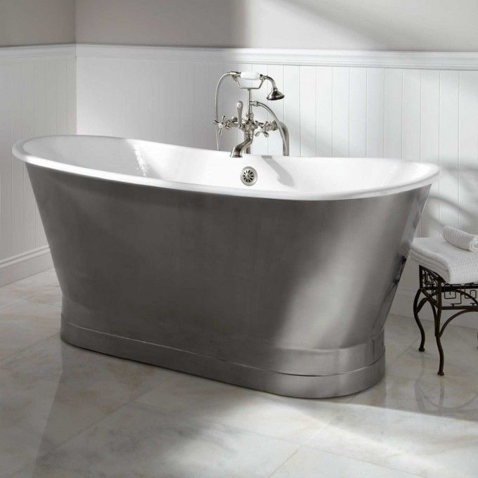 68  Rowley Bateau Cast Iron Skirted Tub Freestanding Tubs Bathtubs Bathroom Tub