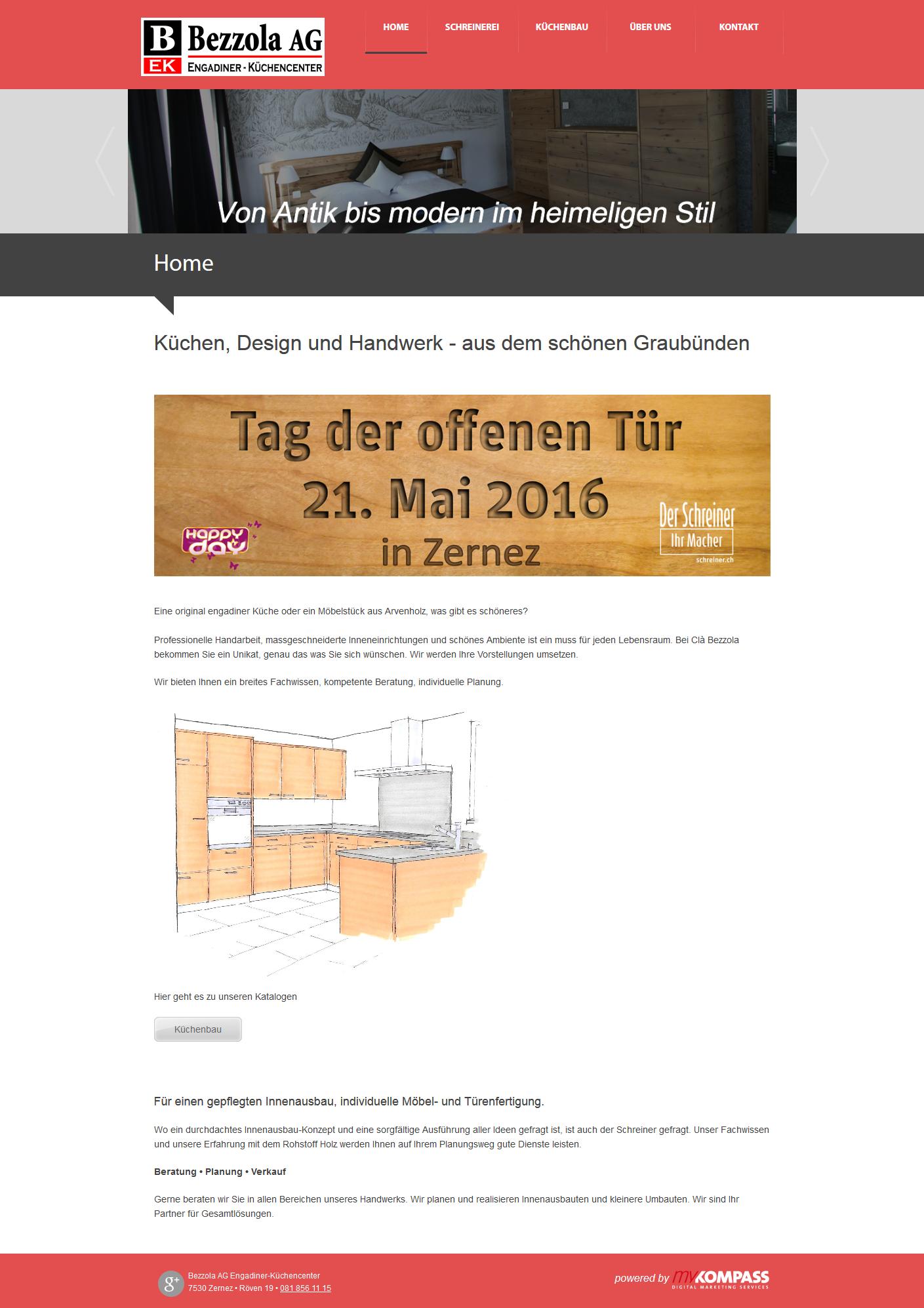 Bezzola AG Engadiner-Küchencenter, Zernez, Graubünden, Schreiner ...