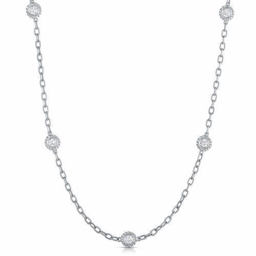 Fink's 14K Diamond Station Necklace