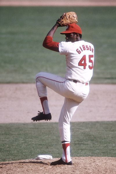 Photo of Bob Gibson was the greatest right handed pitcher ever. IMPO