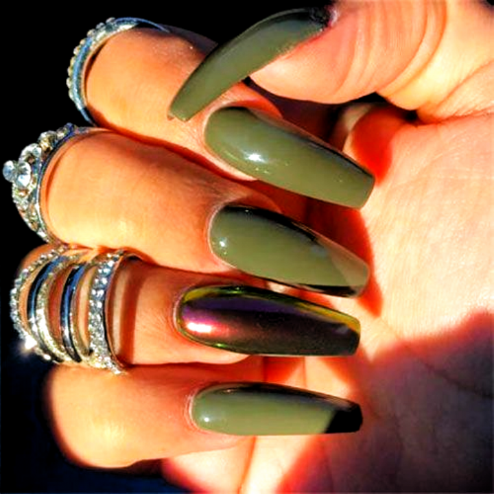 45 Best Fall Nail Polish Colors Cute Trending Ideas For 2020 In 2020 Green Nails Fall Acrylic Nails Nail Polish Colors Fall