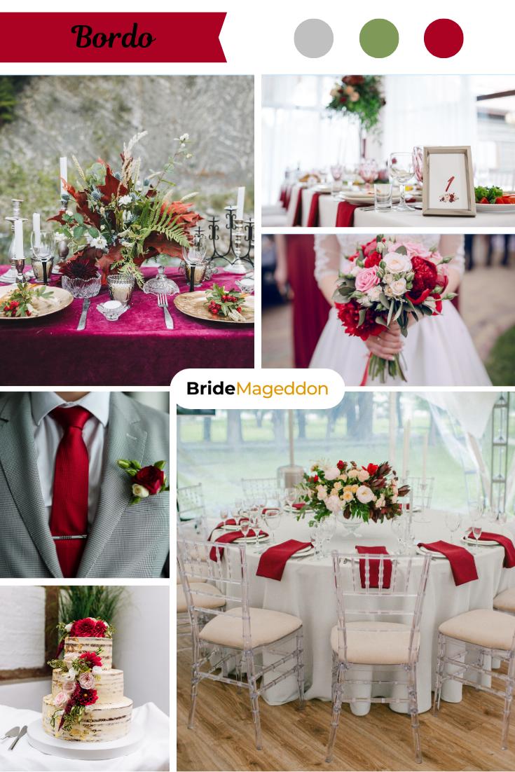 Motyw Przewodni Wesela Bordo In 2021 Table Decorations Decor Bride