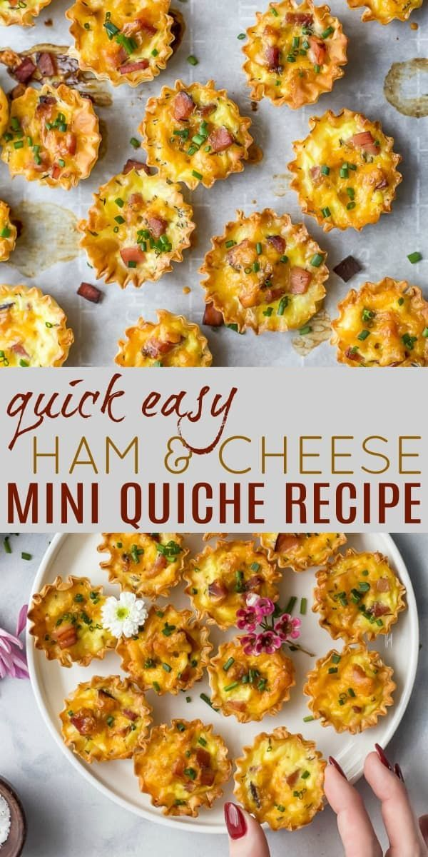 Easy Ham & Cheese Mini Quiches Perfect for Sunday Brunch -   18 healthy recipes Simple brunch food ideas