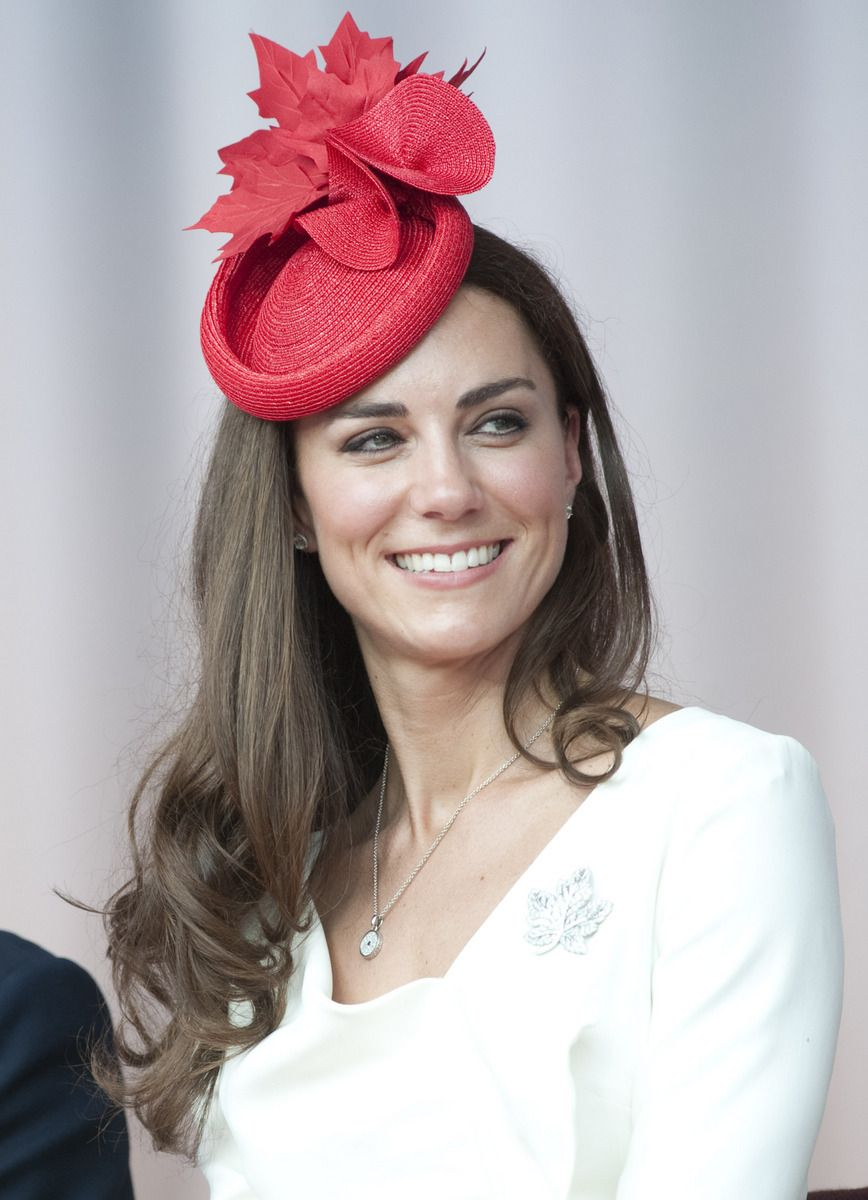 84af4abffaa Kate wore this hat on her Canadian visit - it has red maple leaves in  honour of Canada.