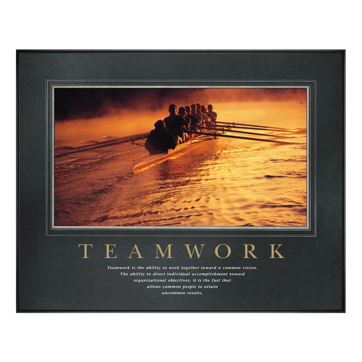 Motivational Quotes For Sports Teams: Teamwork Rowers Motivational Poster