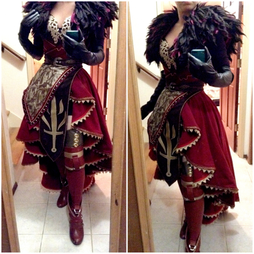 enayla:  Progress update on my Dragon Age Cullen cosplay!  I'm working on a genderbend of my own design and I've been having way too much fun interpreting his pieces for a female version - I've been pulling heavily from his concept art as well as other DA designs.  The fabric bits are ~90% complete (still have his draped shawl and some details here and there), and then I'll get going on his armor (pauldrons, bracers, and breastplate).Facebook | DeviantART | Twitter