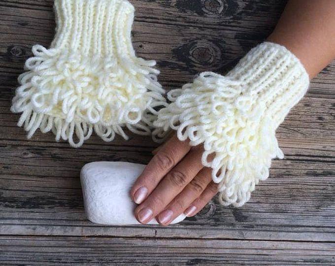 Fingerless Gloves Hearts Love Gloves Bridal Wrist Warmers | Etsy