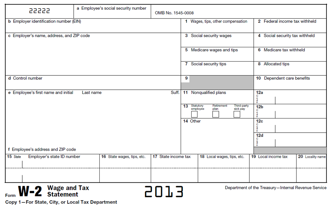 Free 2013 W2 Form 2013 W2 Irs tax forms, Irs taxes