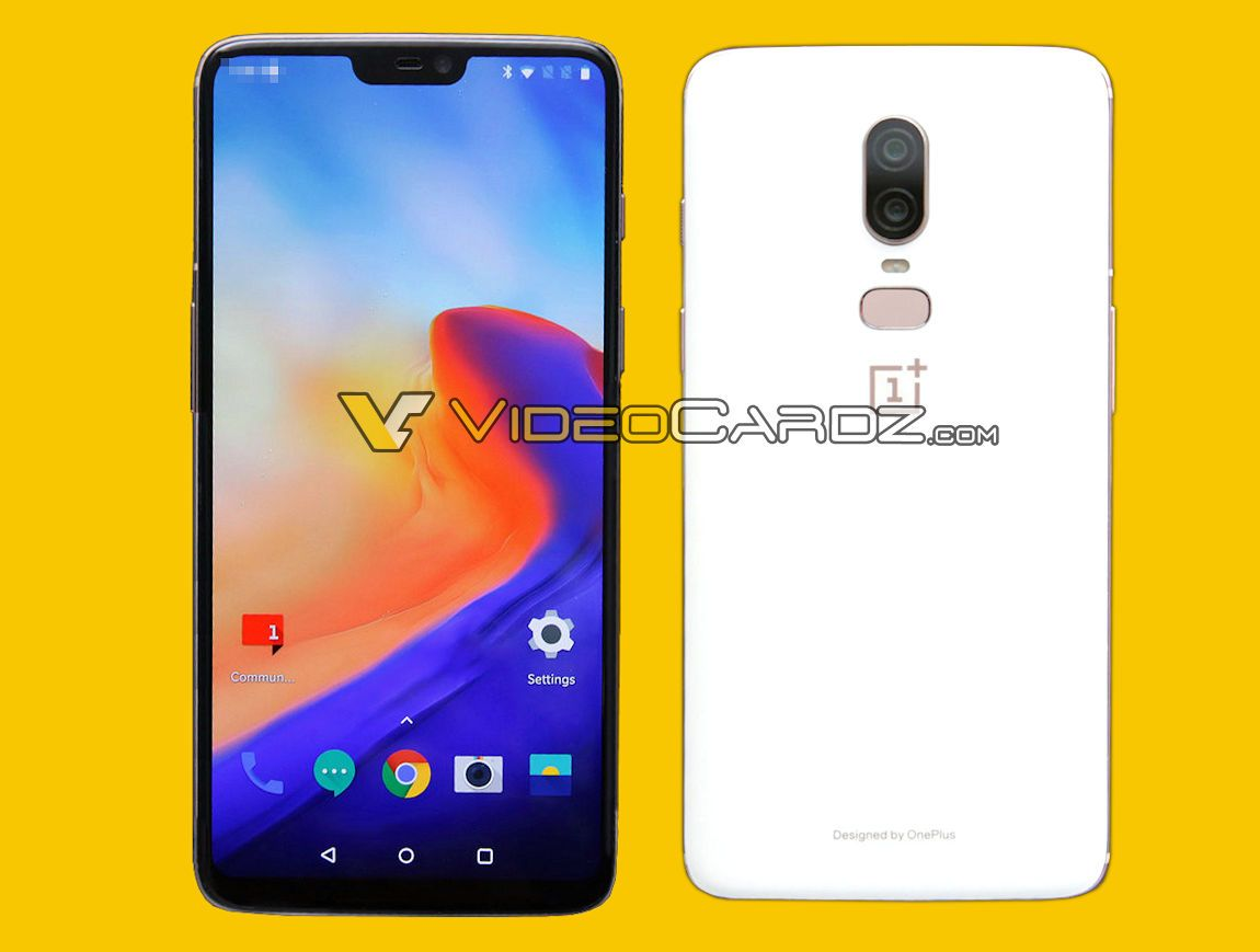 OnePlus 6 Leaks With Dual Cameras, Notch & White Back