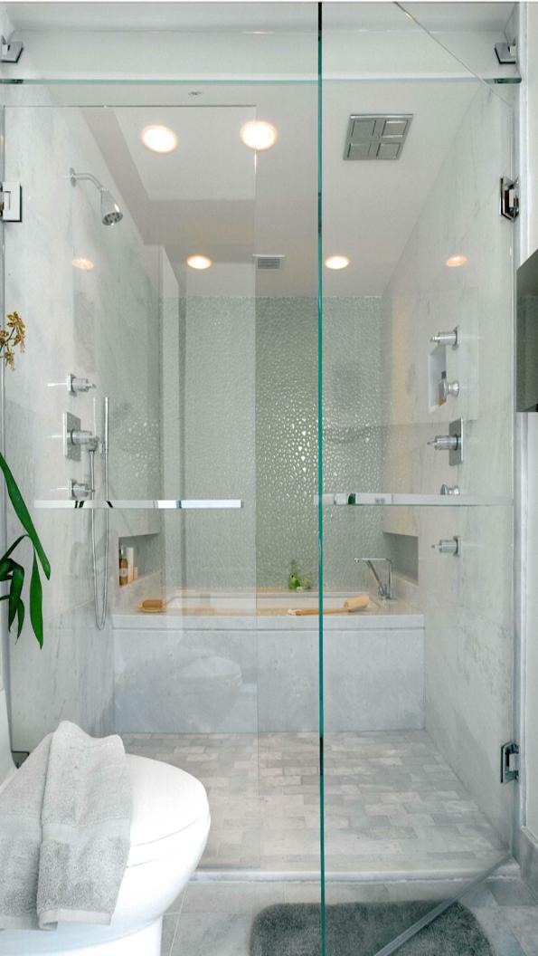 Bathtub Inside Walk In Shower No Splash Or Overflow Bath Mess To Mop Up