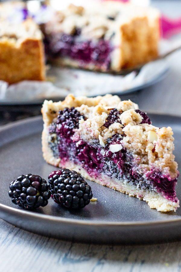 Vegan Blackberry Poppy Seed Crumb Cake  Ve Eat Cook Bake  Easy Recipe for a vegan Blackberry Poppy Seed Crumb Cake This German Style Streusel Cake is quick